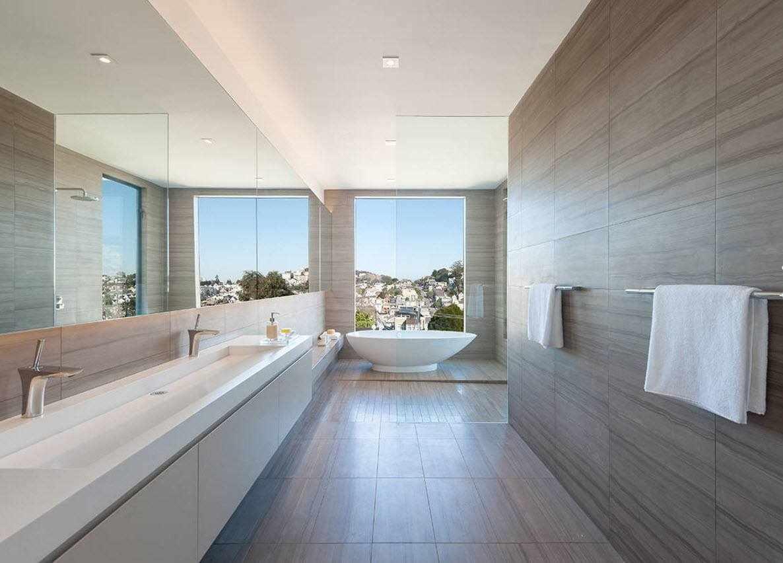 Минимализм в дизайне ванной