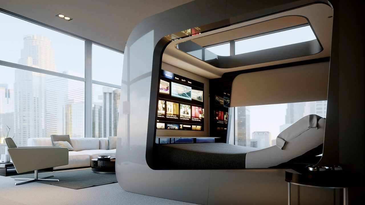 Необычный дизайн квартиры с панорамными окнами