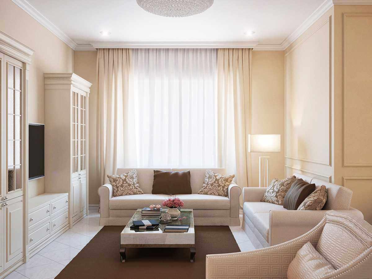 Мебель пастельного цвета в интерьере квартиры