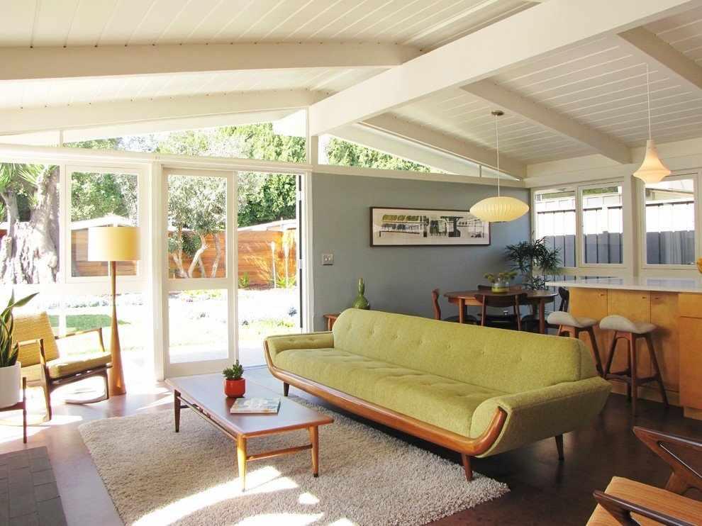 Мебель в интерьере в стиле 70-х