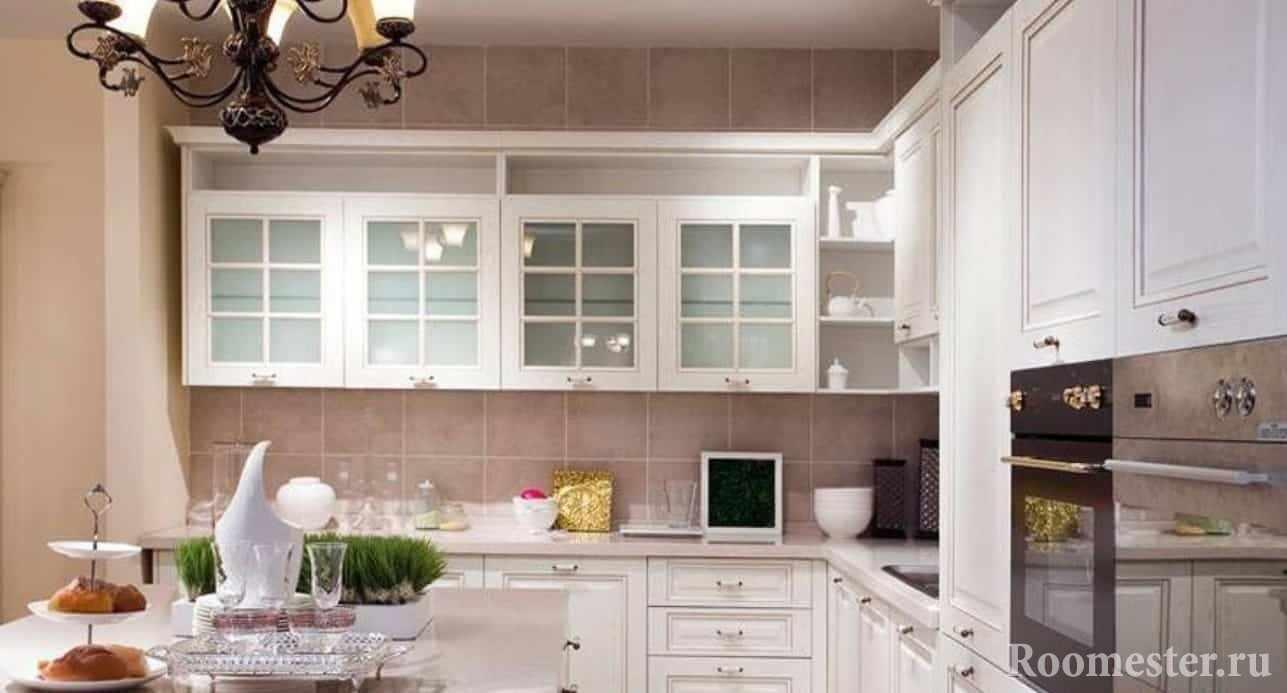Американский стиль неоклассики в кухне
