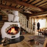 Камин-печь в доме