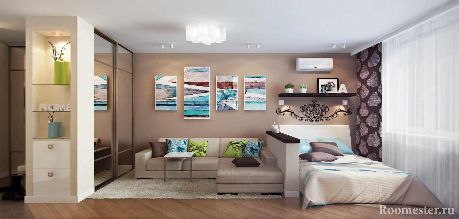 Дизайн-проект разграничения зала на две зоны