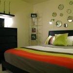 Сочетание цветов в интерьере зеленой спальни