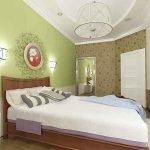 Сочетание цветов интерьере зеленой спальни