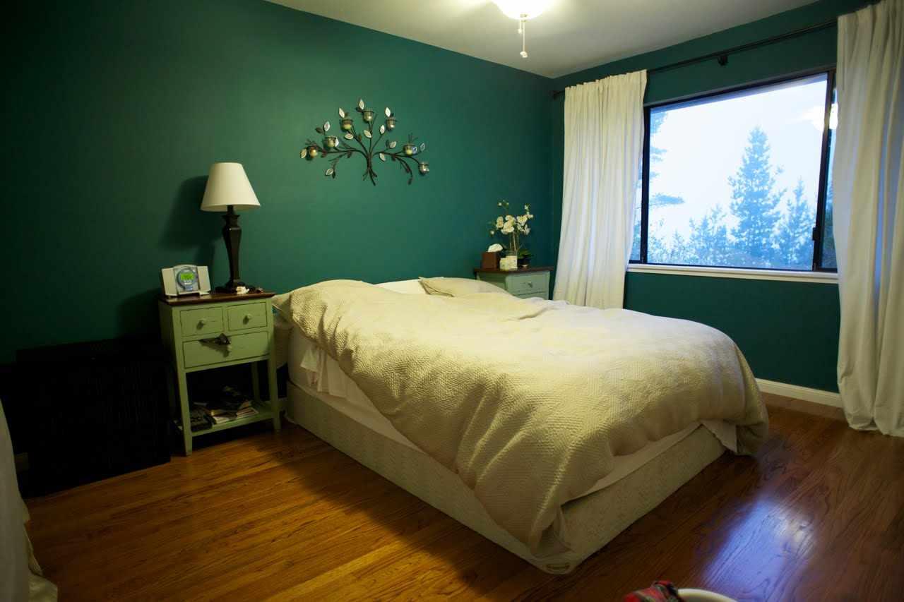Оттенки зеленого в дизайне спальни