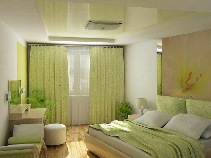 Дизайн спальни оливкового цвета