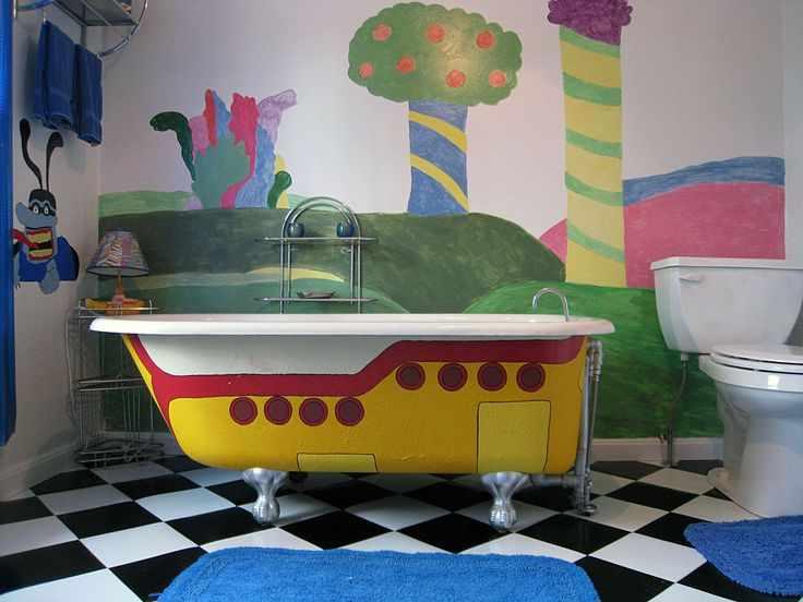 Ванная в стиле Желтой Субмарины