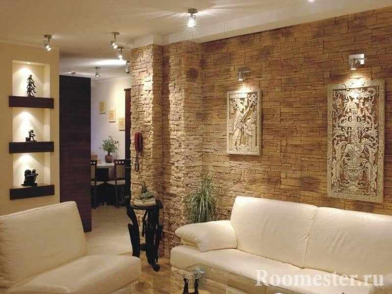 Применение искусственного камня в квартире