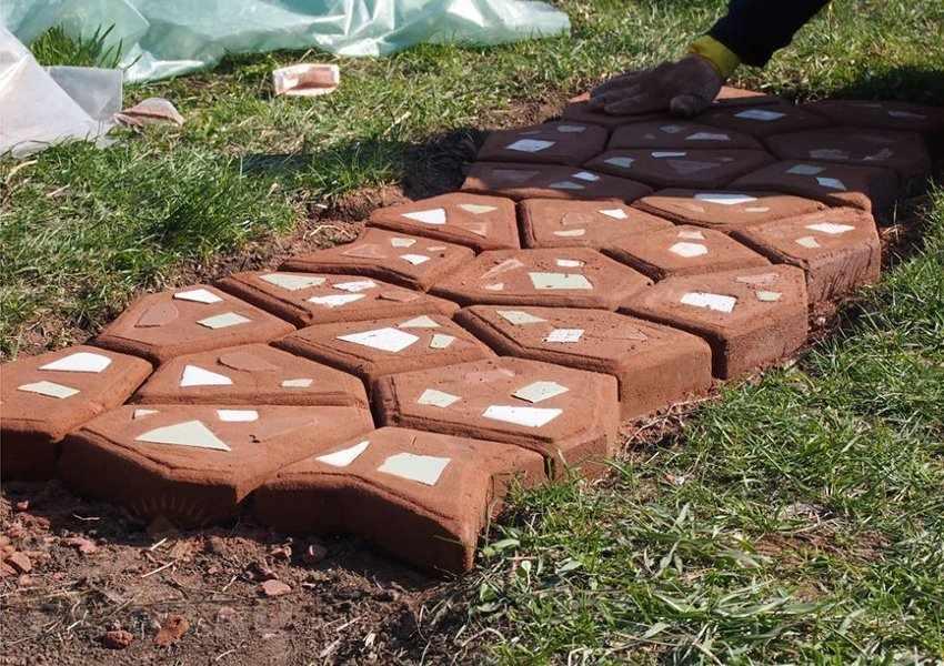 Идеи изготовления тротуарной плитки
