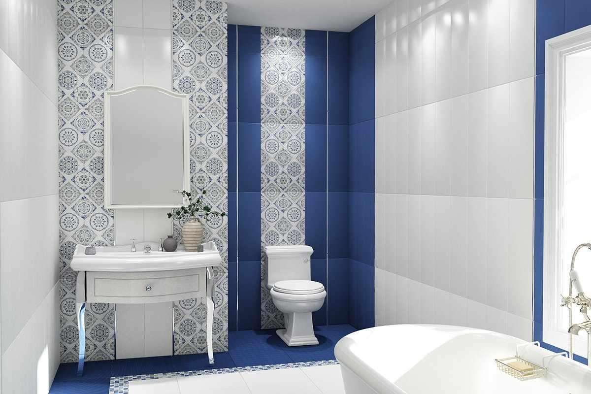 Бело-синяя плитка