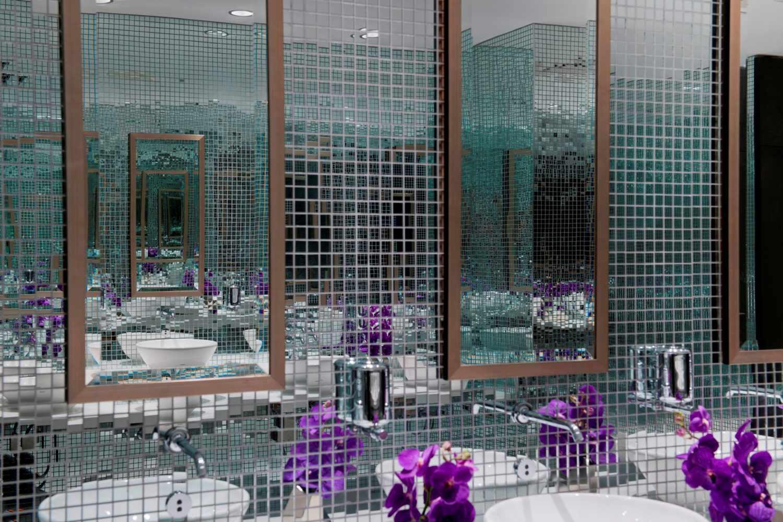 Зеркальная мозаика в интерьере