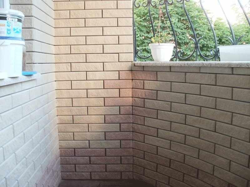 Отделка балкона клинкерной плиткой