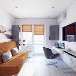 Расположение мебели в однушке