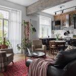 Балки в интерьере однокомнатной квартиры