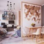 Квартира-студия идеи зонирования
