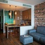 Зонирование кухни в однокомнатной квартире