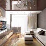 Расстановка мебели в однушке