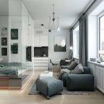 Однокомнатная квартира в хай тек стиле