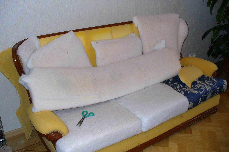 Ремонт дивана и замена обивки
