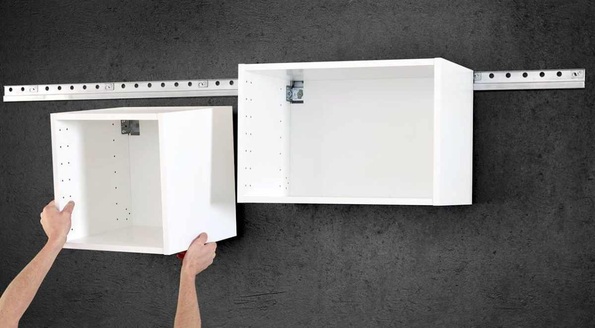 Монтаж кухонных шкафчиков
