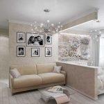 Фото над диваном