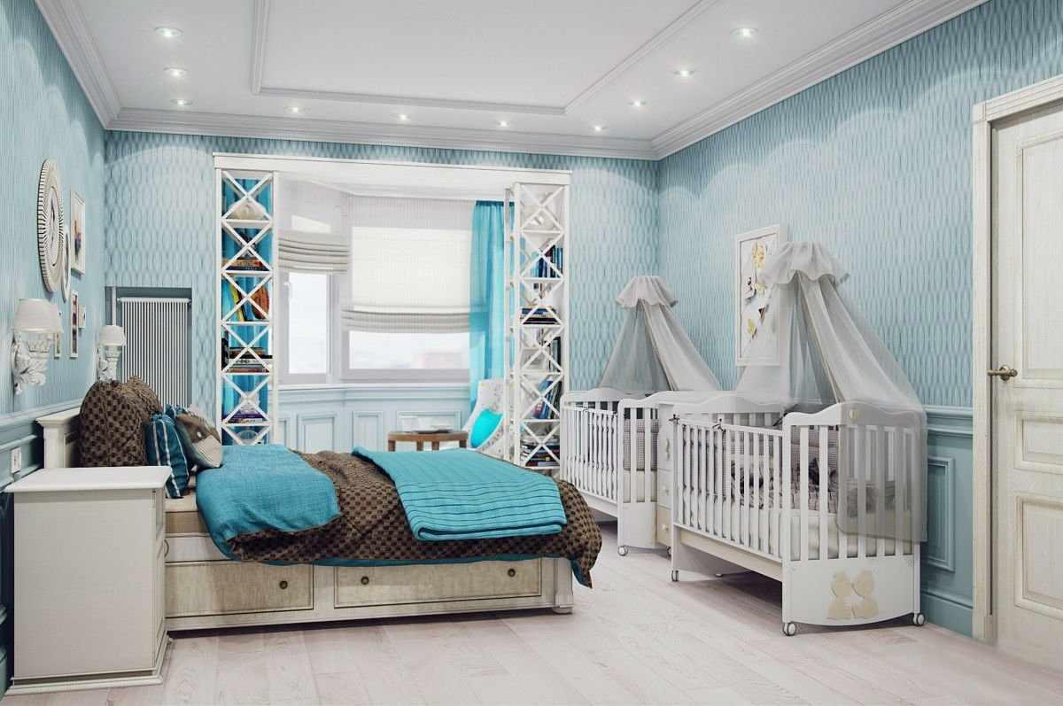Спальня с детской
