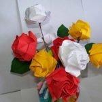 Розы оригами