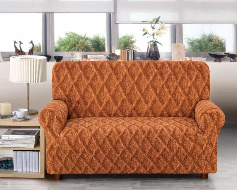 Вязанный чехол на диван