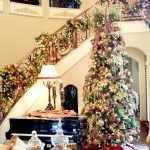 Новогодний декор лестницы