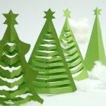 Простые елки из бумаги