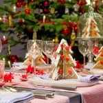 Пряничные ёлочки на тарелках