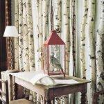 Декор стены из деревянных брусьев
