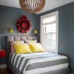 Объемные элементы декора в спальне