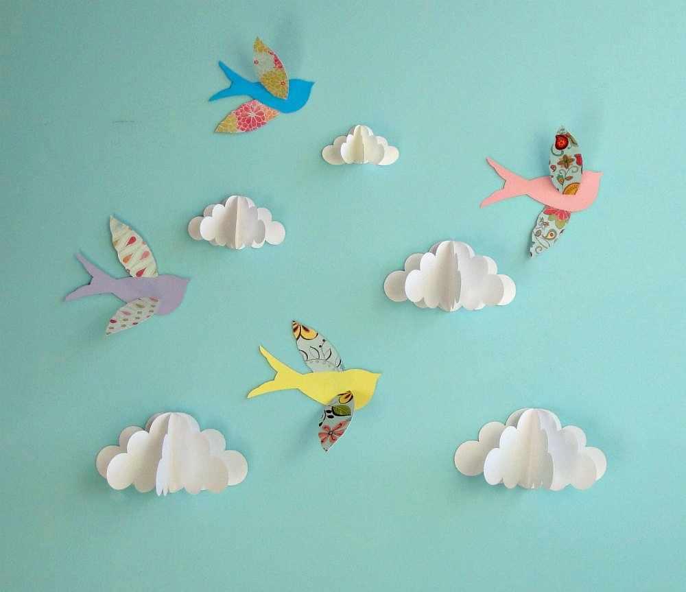 Объемные бумажные облака