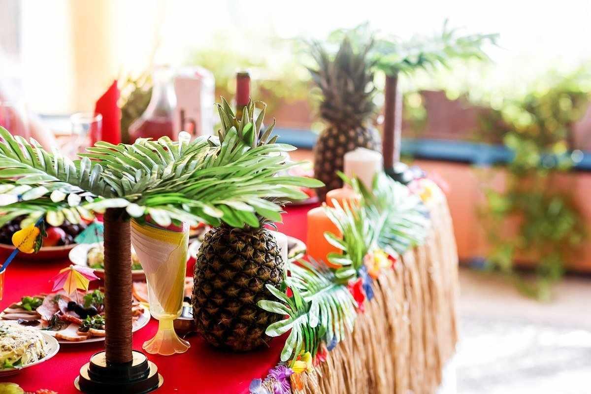 Сервировка в гавайском стиле