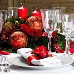 Украшение стола к новому году
