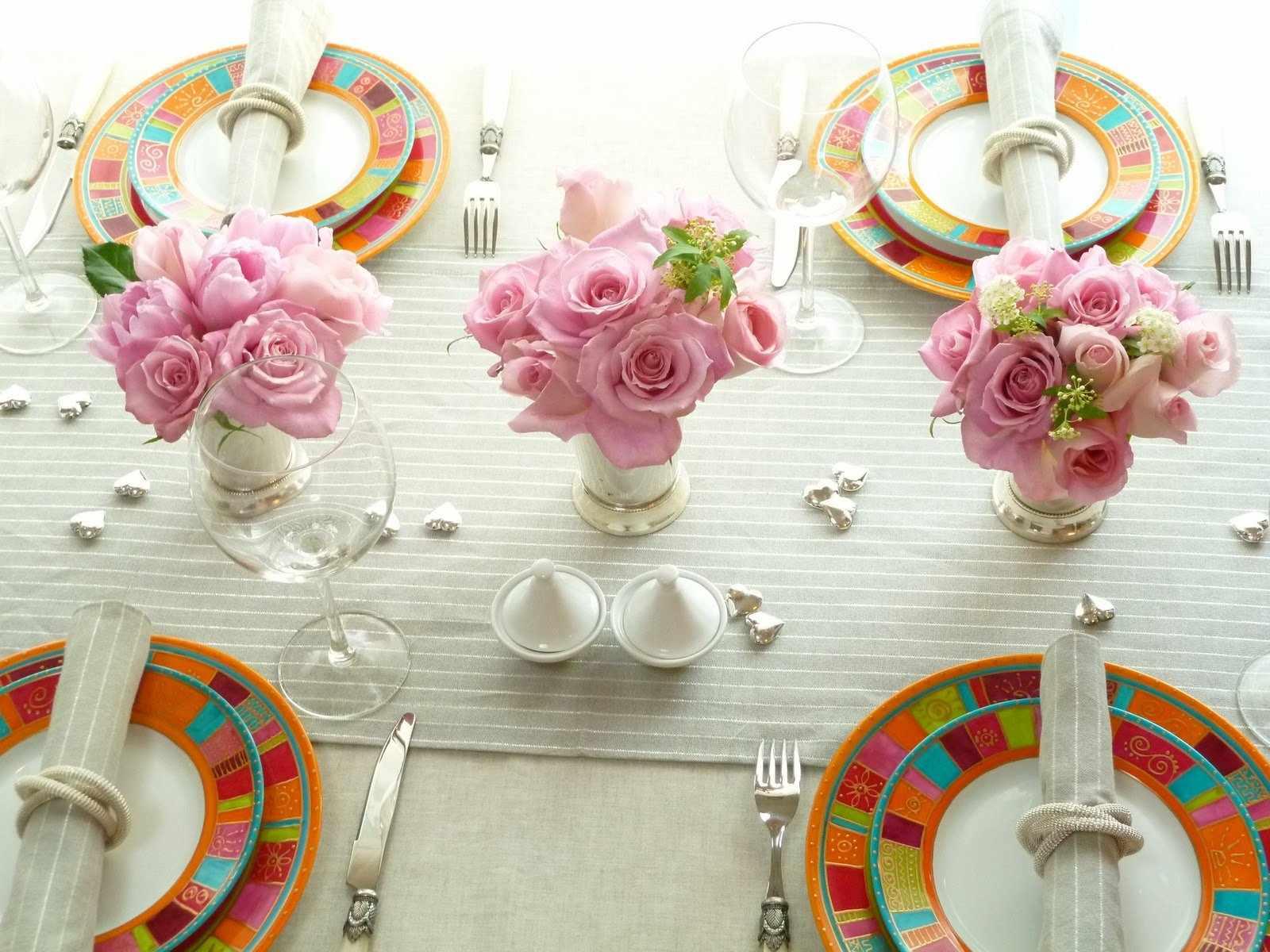 Цветочный дизайн стола