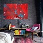 Ярко-красная абстракция