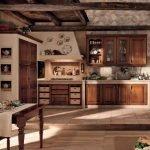 Оформление большой кухни