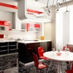 Яркие элементы на кухне