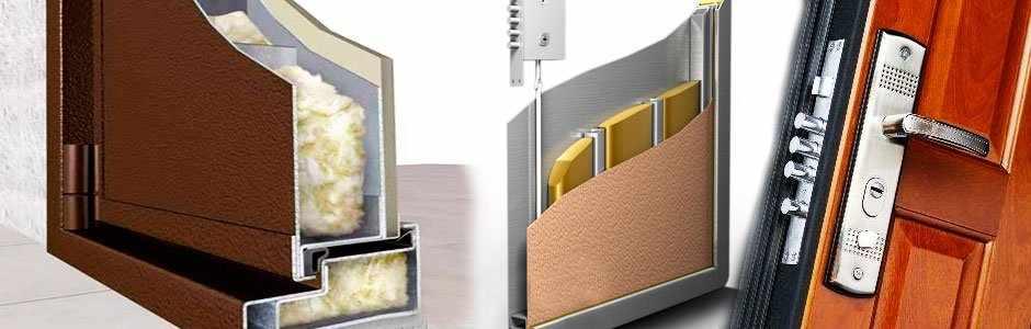 Тепло и звукоизоляция двери