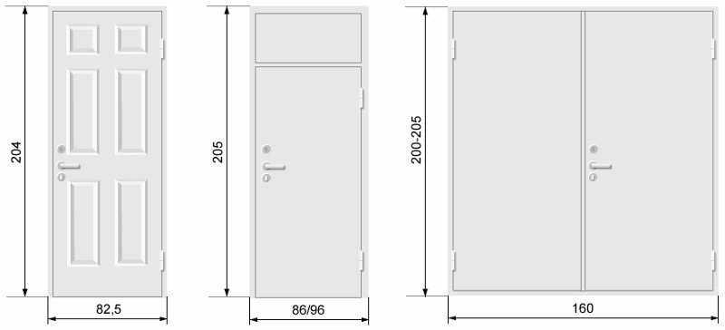 Размеры входной двери