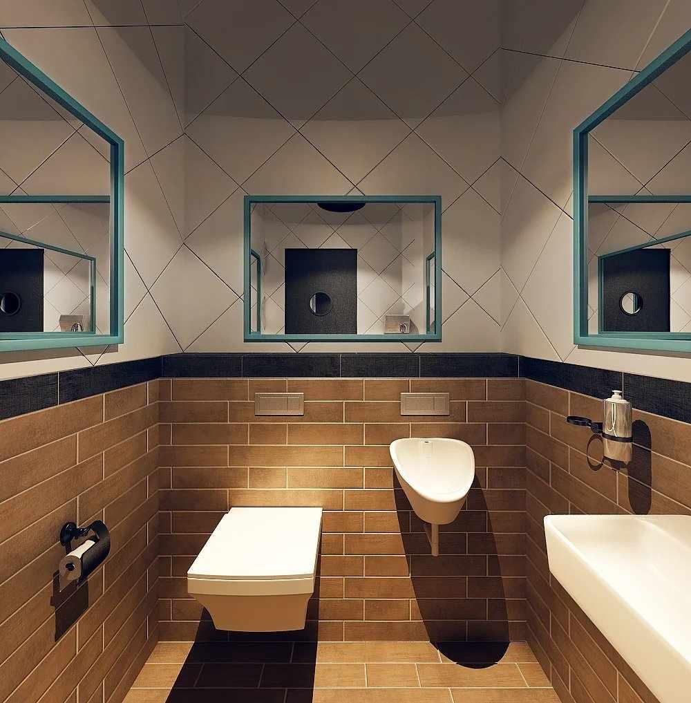 Отделка стен в туалете
