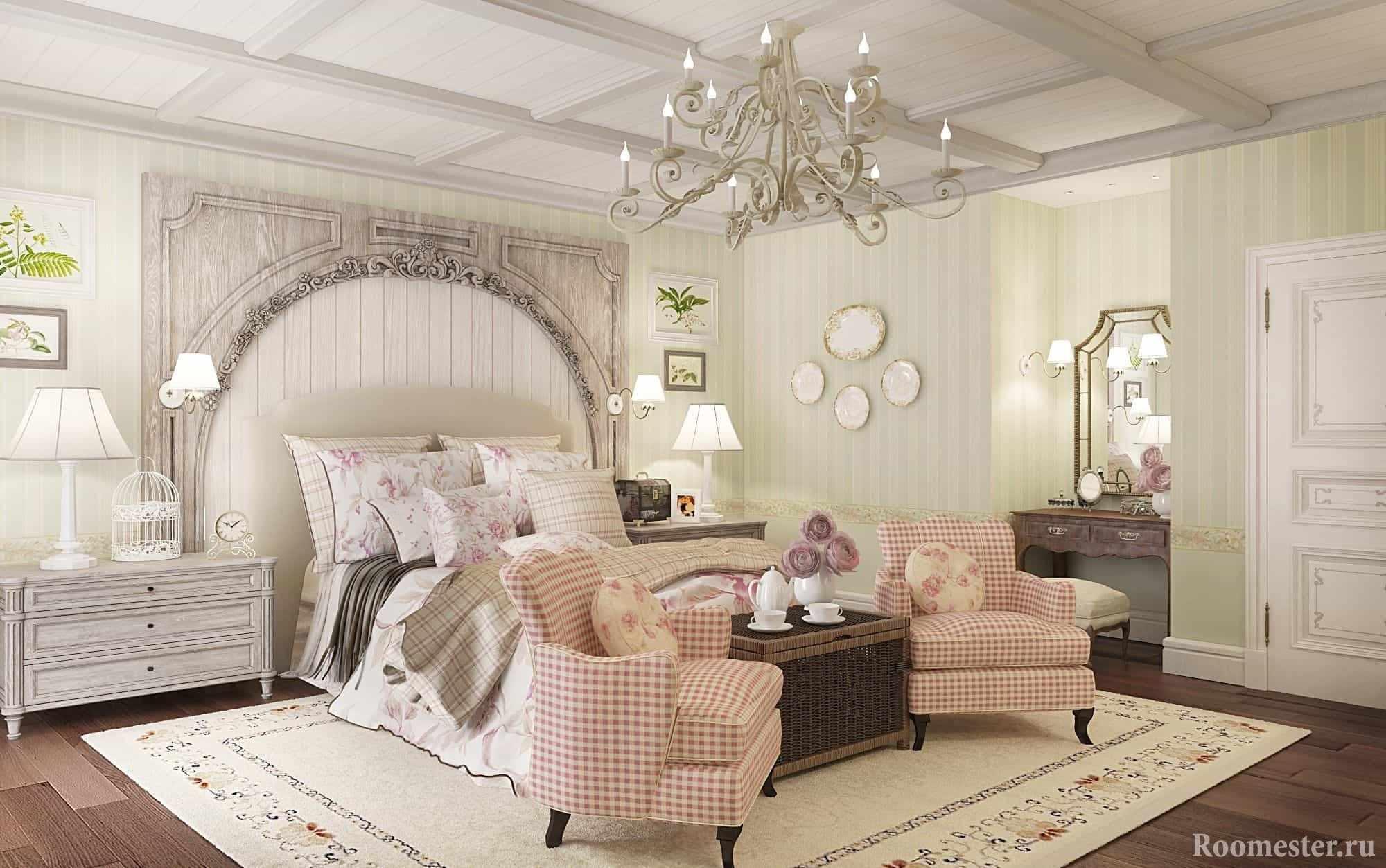 Романтичная спальня в стиле прованс