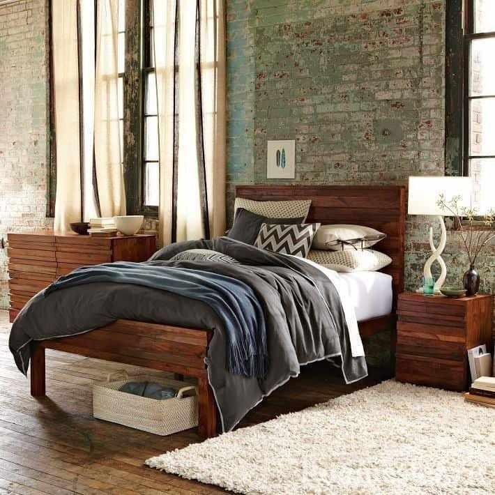 Уютная спальня в стиле гранж