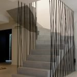 Канатное ограждение лестницы