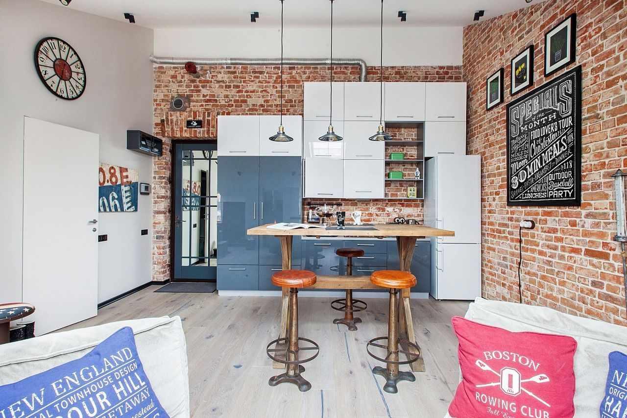 Картины на кухне в стиле лофт