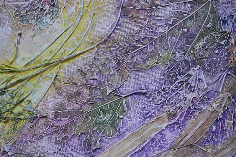 Мастер-класс картины в технике «мокрая ткань»