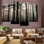 Лес на стене